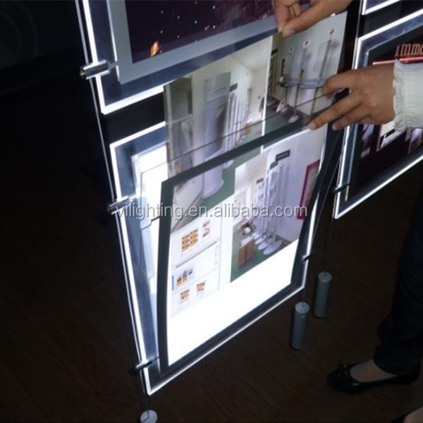 Acrylic Light Box Display : Wall mounted small photography crystal acrylic super slim
