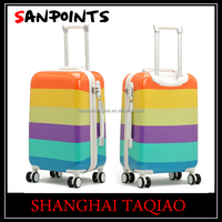 luggage plastic foot stand custom luggage cover abs suitcase pc suitcase travel luggage trolley suitcase wiht 4 universal wheels