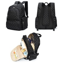 Custom stylish quilted polyester 600d changing adult baby diaper bag for mother