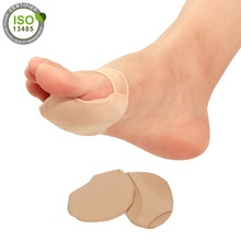 <strong>Original</strong> Silicon Pad Metatarsal Sleeves for Forefoot Pain Morton's Neuroma Plantar Warts Corns and Sesamoiditis Skin Color Socks
