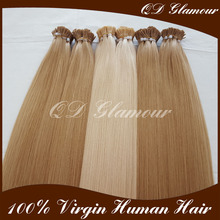 Chinese Factory Wholesale Virgin Remy Prebonded Hair Straight Russian Hair Extensions