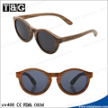 2014 new designer in market hot selling polarized gafas de sol with round wood frame