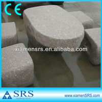 Natural stone garden mushroom table