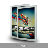 with aluminous up cover and front panel to hold the posters aluminum profile led light box