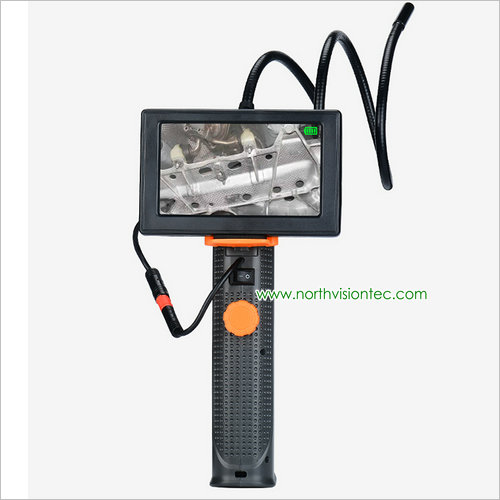Handheld LCD 8mm lens endoscope inspection <strong>camera</strong> waterproof led nightvision borescope <strong>camera</strong> with monitor