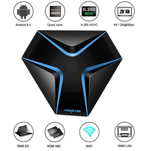 Magicsee Iron desi tv box DDR3 8k android tv box amlogic s905x android internet tv