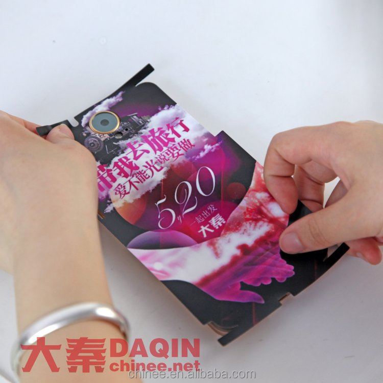 custom sticker printing machine of cell phone skin