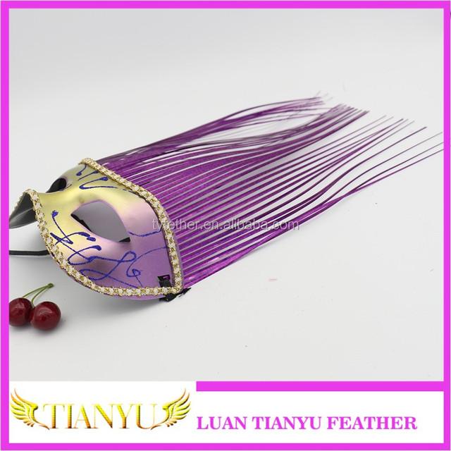 2017 Beautiful Design feather masks carnival