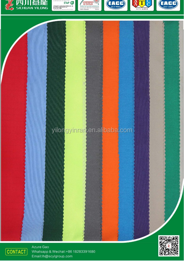 65 Polyester 35 Cotton T65/C35 20*16 120*60 TWILL 3/1Plain dyed WORKWEAR FABRIC
