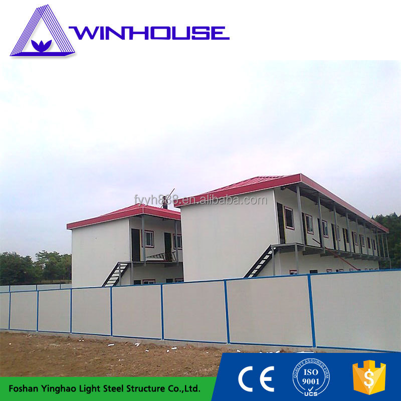 luxury slope roof prefab modular house / light steel farm house
