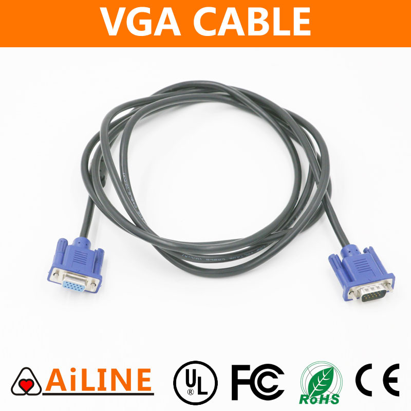 AiLINE High Quality Wholesale 5FT 3+5 15 Pin Computer Metal VGA Cable