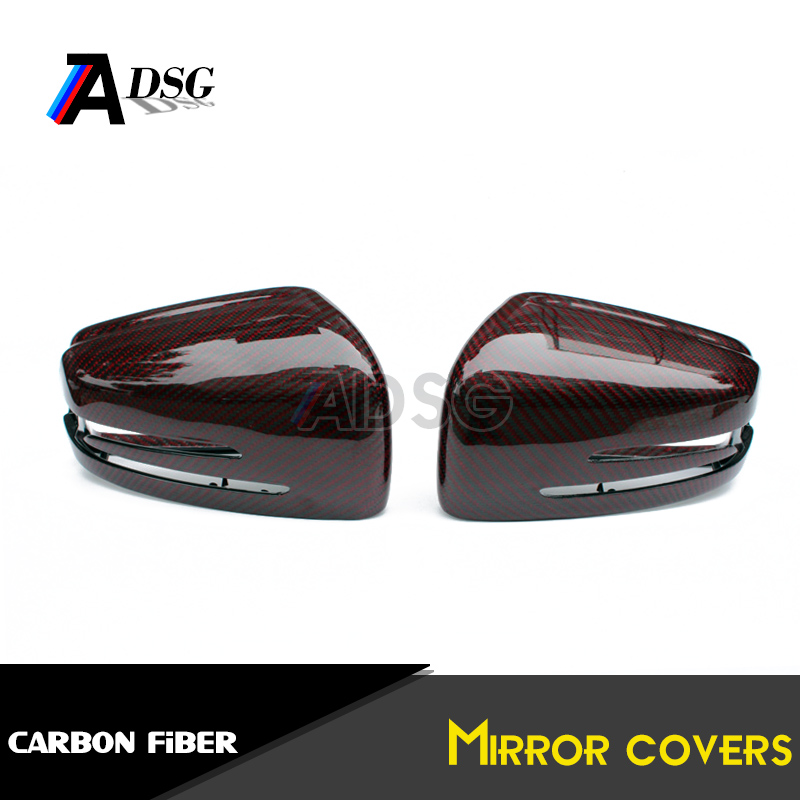 Mercedes carbon fiber replacement wing mirror cover cap shrouds for A W176 B W245 C W204 E W212 W207 CLA <strong>W117</strong> CLS W208 W221
