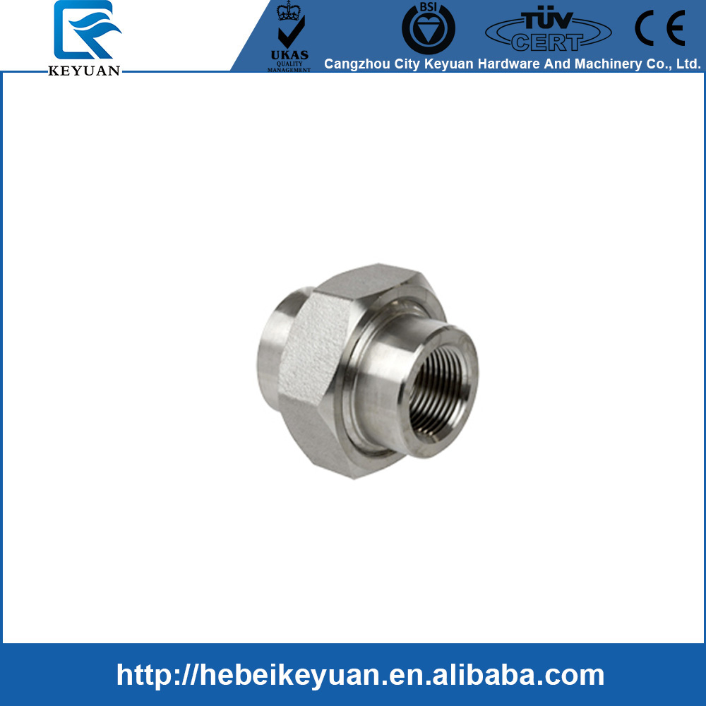 "1"" BSPT Female Adapter 304 Stainless Steel Pipe Coupler Threaded Union"