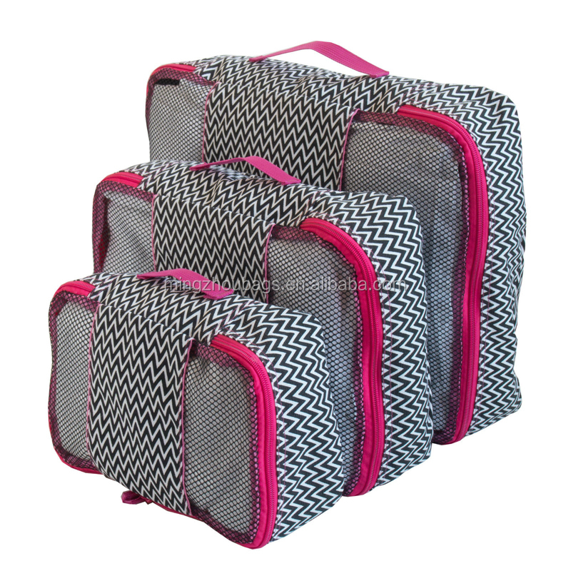 Travel Packing Mesh Bag, Packing Cubes - Assorted 3PC Set
