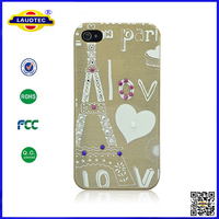 Design Diamond Hard Cover Case for iPhone 4 4S New Design 2014 Made in China Laudtec