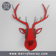 Custom DIY MDF wooden modern home wall decor 3d wall deer