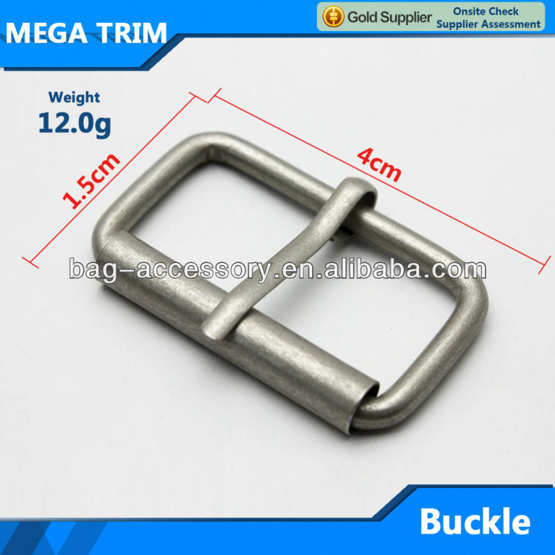 Metal belt buckle for Men reversible pin buckle make in guangzhou