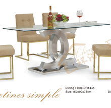 Master design used dining room furniture for sale tempered glass dining table