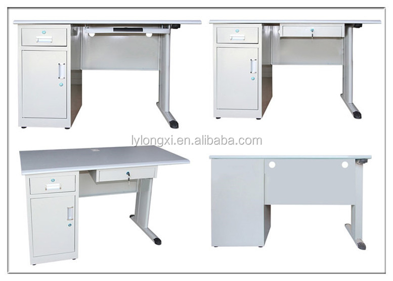 Low price fancy computer desks with 8 locking drawers