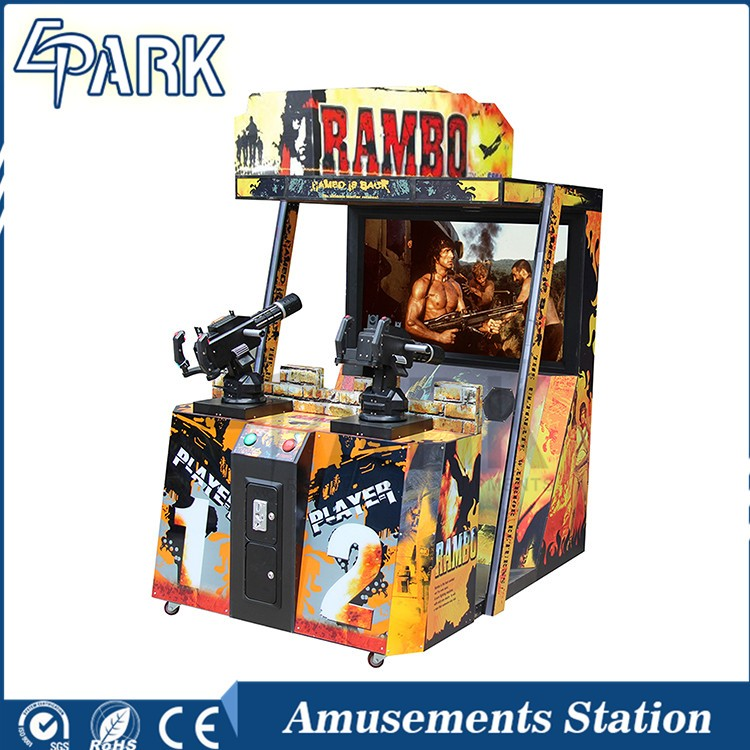 Rambo 2 adult video game machines indoor shooting game equipment