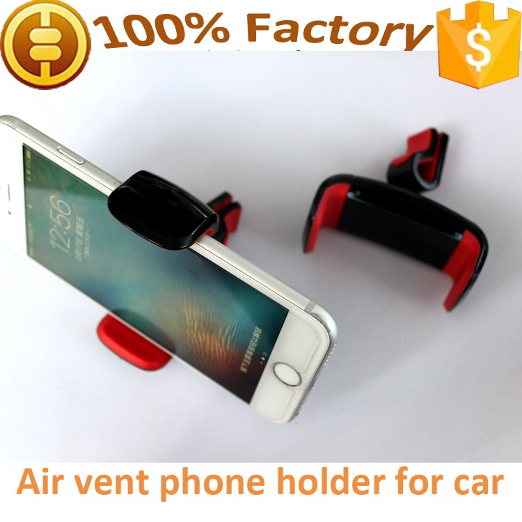 high quality air vent mount phone clip holder for car