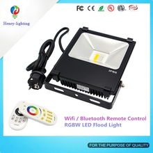 Ultrathin Led Flood Light Black Waterproof Ip65 Floodlight Spotlight Outdoor 30W Led Rgb Flood Light