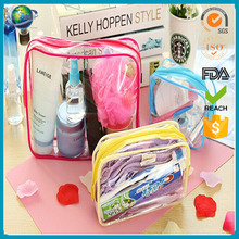 transparent pvc trolley makeup brush organizer bag made in china