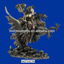 Roaring Black Resin Dragon Figurine Polyresin Crafts Wholesale