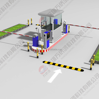 TCP/IP automatic car parking system, ARM core processor,parking barrier