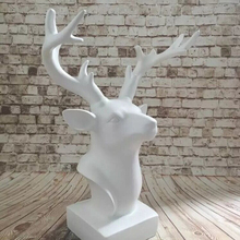 resin deer animal head sculpture Alibaba promotion abstract small size decoration figurines for table indoor outdoor garden