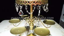 Birthday party display cake rack 2-layer metal wedding decorative cake stand