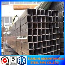 150X150 high heels tube/carbon steel erw steel pipe price per ton/pg & hdg emt pipe