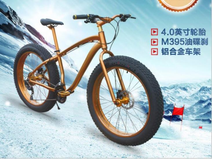 Save Operation Costs Stable Performance Flat Snow Bike Kit 26'X4.0