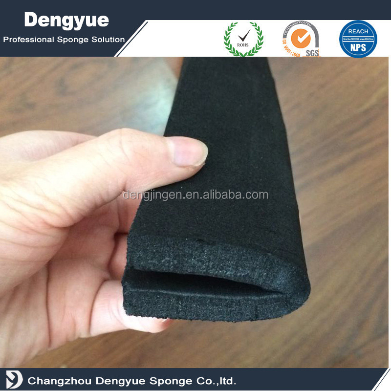 High Quality Replacement 6MM Thick Reversable Floor Squeegee Head Foam Neoprene Rubber Foam Blade