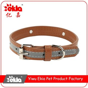 Factory directly rivet inlay reflective personalized pet dog collars