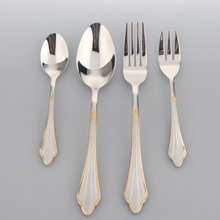 2015 Simple Design High grade flatware Stainless steel cutlery set / elegant design for airlines