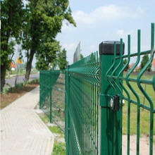 PVC Coated or Powder Coated welded wire mesh fence panel