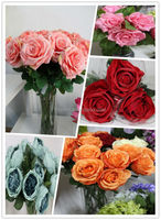 artificial wedding flower artificial red rose flower artificial flower making