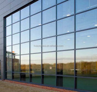 clear tempered soundproofing double glazing glass in building