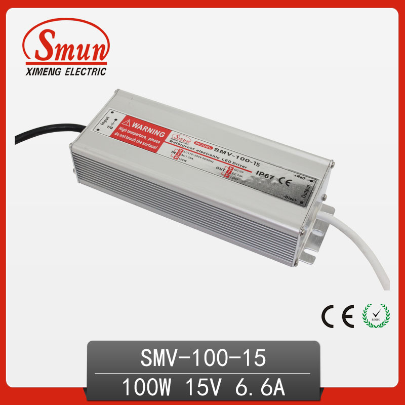 100W 15V 6.6A Waterproof LED Driver Display Power Supply