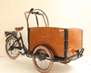 motorized tricycle cargo bike with wooden box bakfiet popular with Netherland market