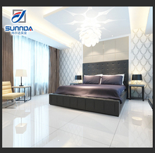 24x24 discontinued 3d nonslip extreme white polished porcelain floor tile for living room and bedroom