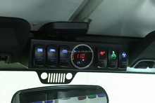 6 in 1 Light Control Switch Panel with LED for Jeep Wrangler JK offroad lighting