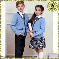 v-neck uniform pullover sweater/school uniform knitted cardigan sweater