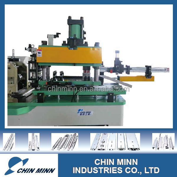 Easy operating cassette roll forming machine for kitchen drawer rails
