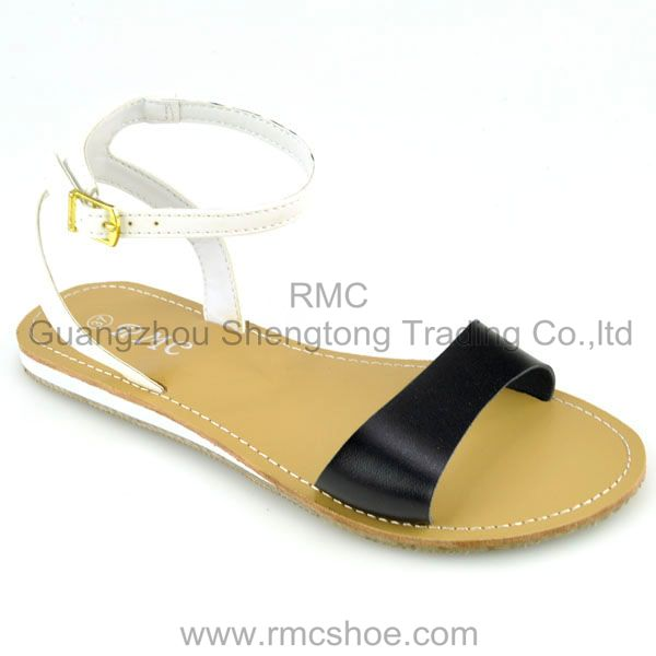 RMC flat ankle strap lady dress shoe