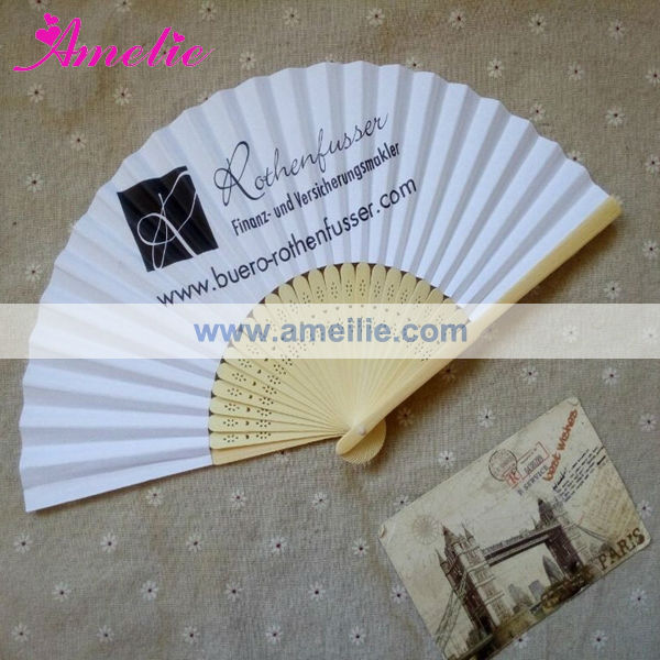 AP03172 Paper Bamboo Fan With Your Logo Latest Wedding Gift Away