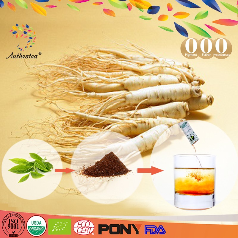 instant ginseng tea 100% natural private labling