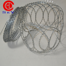 Professional manufacturer high tensile galvanized sharp razor barbed wire for security fence