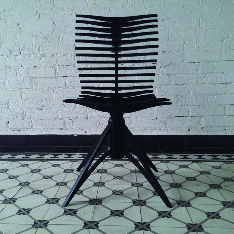 High Back Room Black Classic Dining Chair